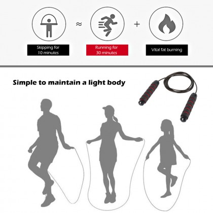 Unisex Tangle-Free with Ball Bearings Rapid Speed Jump Rope Crossfit Excercise and Fitness Workout Equipments Skipping Foot D30
