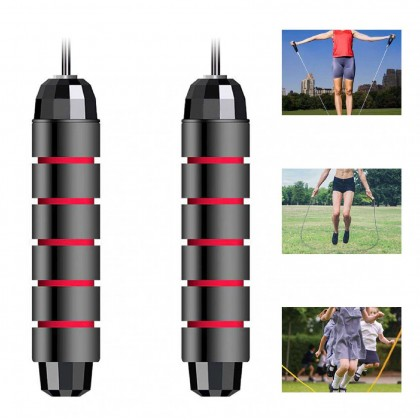 Somax Store !! Unisex Tangle-Free with Ball Bearings Rapid Speed Jump Rope Crossfit Excercise and Fitness Workout Equipments Skipping Foot D30