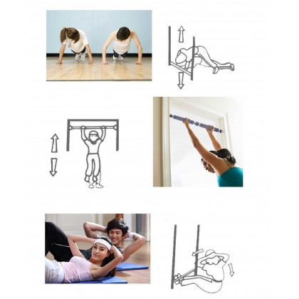 Adjustable Door Horizontal Bars Exercise Home Workout Gym Chin Up Pull Up Training Bar Sport Fitness Equipments