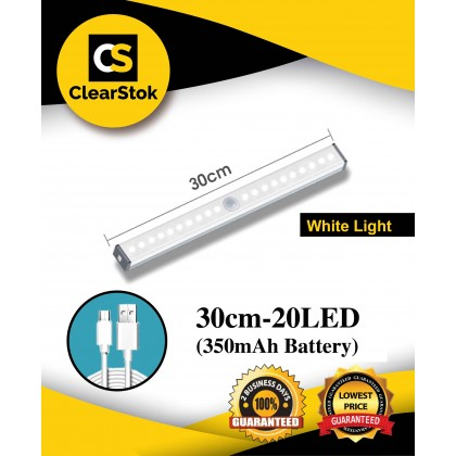 Somax Store !! 2020 LED Night Light Motion Sensor Wireless USB Rechargeable 21 30cm Night lamp For Kitchen Cabinet Wardrobe Wall Lamp