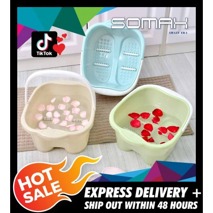 Somax Store !! Household Plastic Deepen Roller Bubble Foot Barrels Of Washing Feet Foot Bath Foot Massage Basin