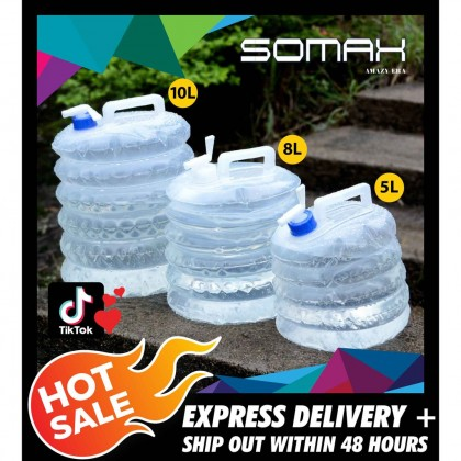 Somax Store !! Outdoor Water Bucket Travel Camping Foldable Collapsible Survival Applicable Water Bottle Container